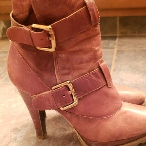 Jessica Simpson brown heel country boots 8.5
